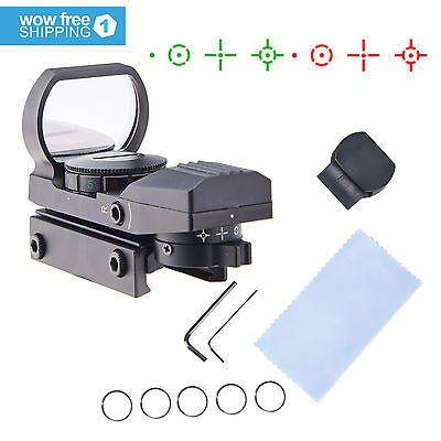 Tactical Reflex Holographic Red Green Dot Sight 4 Type Reticle W  20Mm Rails