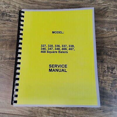 Repair Shop Manual Fits John Deere 336 Square Baler Service Manual Small Hay