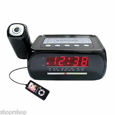 Supersonic SC-371 Digital Projection Alarm Clock with AM/FM Radio NEW