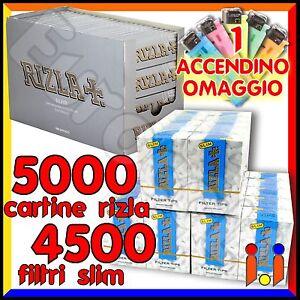 5000-Cartine-Rizla-Silver-Corte-4500-Filtri-Rizla-Slim-6mm
