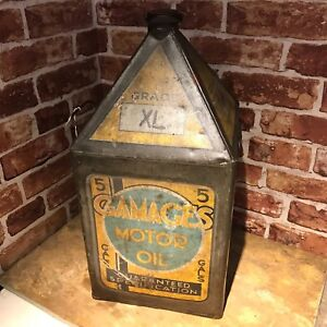 VINTAGE OIL CAN -  GAMAGES OIL CAN #2333