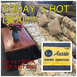 TODAY'S HOT DEAL!!!  3 x 1 x 1 SOFA SET JUST $99!!!! Osborne Park Stirling Area Preview
