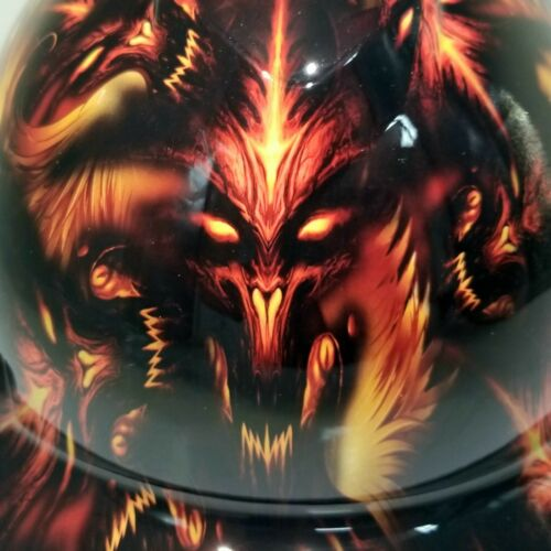 NEW FULL BRIM Hard Hat custom hydro dipped DEMONIC DEMONS FROM HELL NEW SICK 4