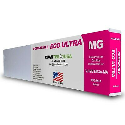 Eco Ultra Msink3a Compatible Magenta 440ml Ink Cartridge For Mutoh -made In Usa