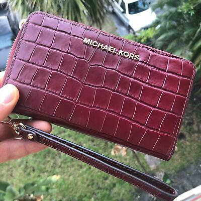 Michael Kors Women Fashion Leather id Card Holder Wallet Clutch Purse Phone Case