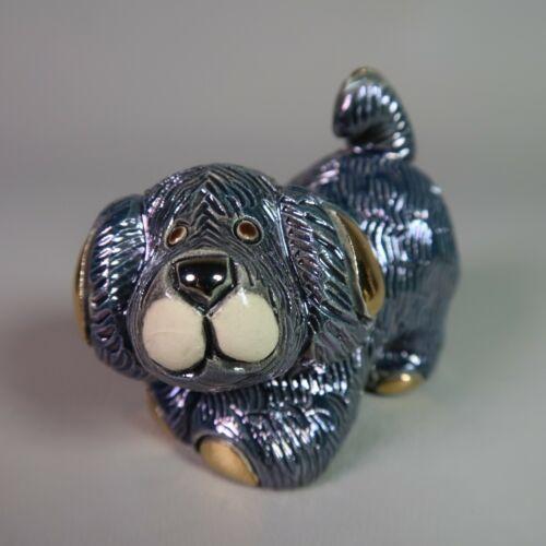 Rinconada De Rosa BLUE PUPPY DOG 1721 Rincababy Figurine URUGUAY Retired Gold