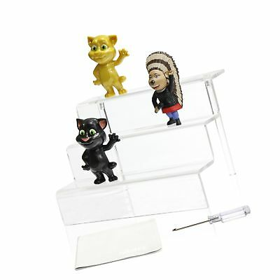 NIUBEE Acrylic Riser Stand Shelf for Amiibo Funko Pop Figure