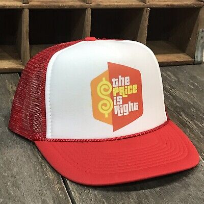 - The Price Is Right Trucker Hat Vintage 80s 90s Bob Barker Game Show Snapback Red