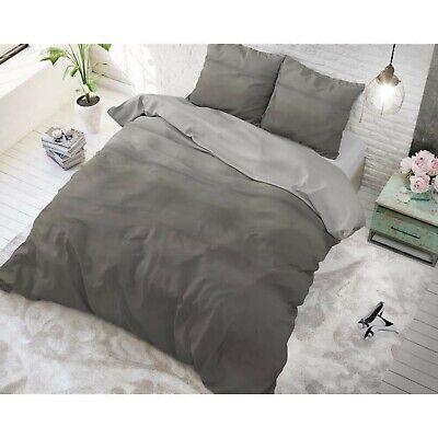 Bettwäsche Set Baumwollmischung 2 Teile Bettgarnitur 140x220cm Degra Dunkelgrau