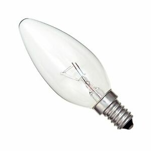 40w transparent bougie ampoule lumi re e14 ses petit vis edison lampe ebay. Black Bedroom Furniture Sets. Home Design Ideas