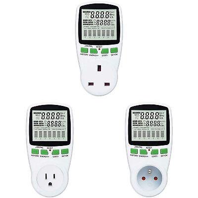 Ac Power Meter 110v-220v Digital Wattmeter Eu Energy Meter Watt Monitor Analyzer