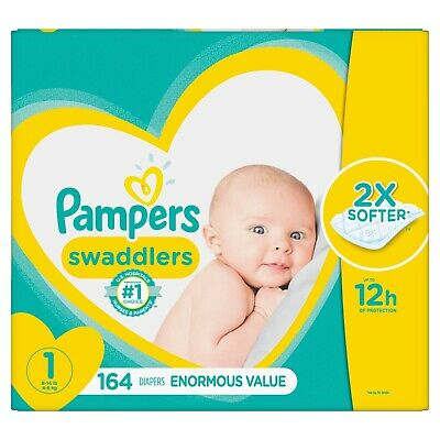 Pampers Swaddlers Size 1 Disposable Diapers - 164 Count