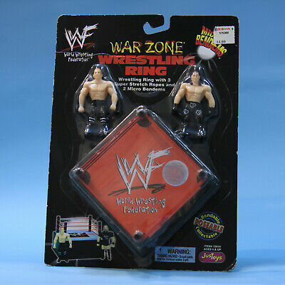 Triple H Shawn Michaels - Warzone Wrestling Ring - JusToys Micro Bendems Figure
