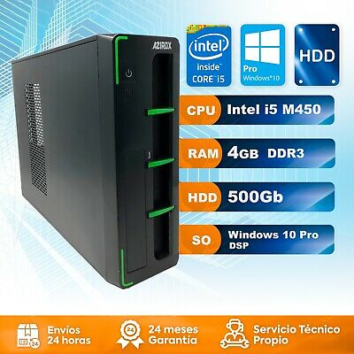 Ordenador PC Sobremesa Intel i5 4Gb DDR3 500GB DDR3 Windows 10 Pro