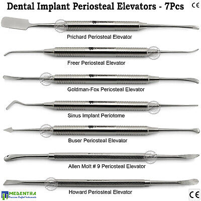 Periosteal Elevators Buser Molt 9 Prichard Periotome Oral Tissue Surgery Implant
