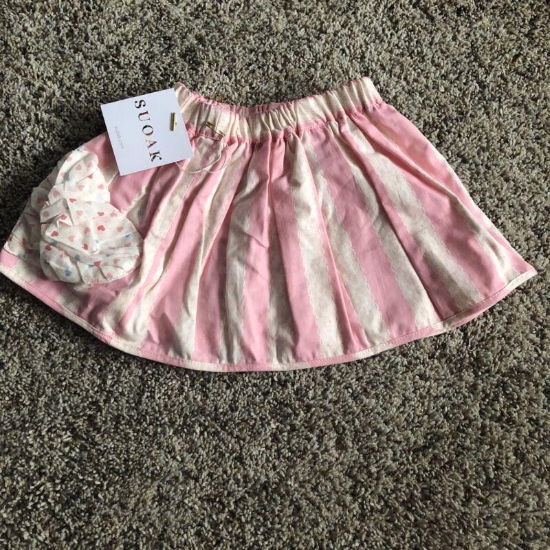 NWT Girls 18-24 Months SUOAK Boutique Skirt Pink