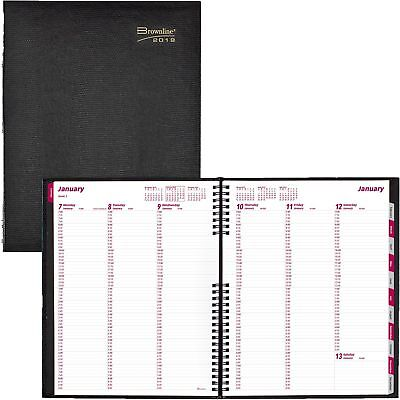 Brownline Coilpro Weekly Planner Ruled 8-12 X 11 Black 2020 Cb950cblk