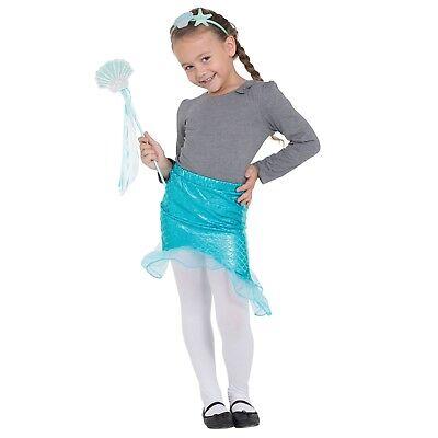 Kinder Mädchen Meerjungfrau Tutu Stirnband + Hülle Zauberstab ()