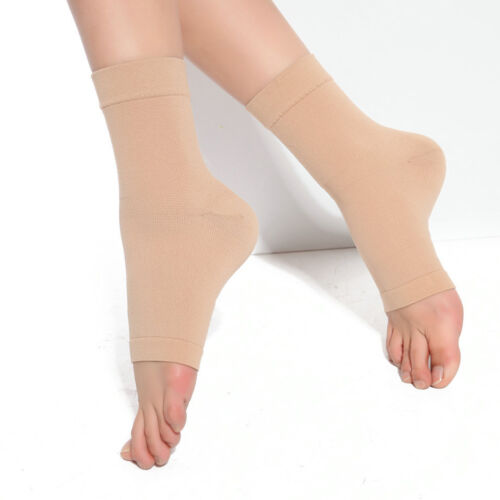 2x Compression Ankle Foot Support Sleeve Pain Relief Brace S