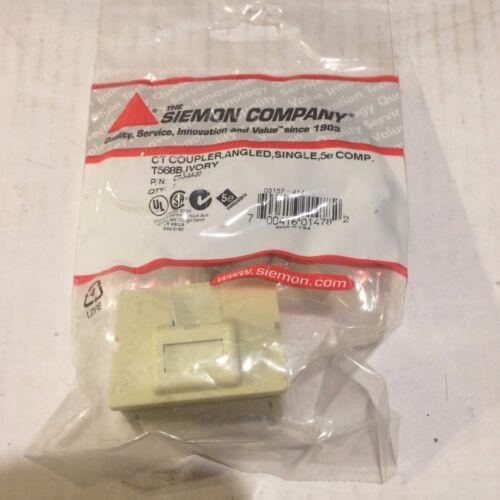 (Lot of 17) Siemon CT-5-A4-20 CT Coupler,Angled,Single,CAT5e COMP. T568B  Ivory
