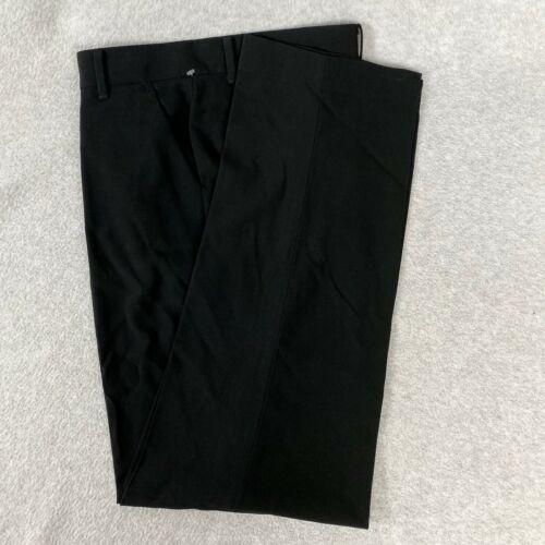 Calvin Klein Boys Dress Pants Black Flat Front School Uniform Size 10 24 x 24