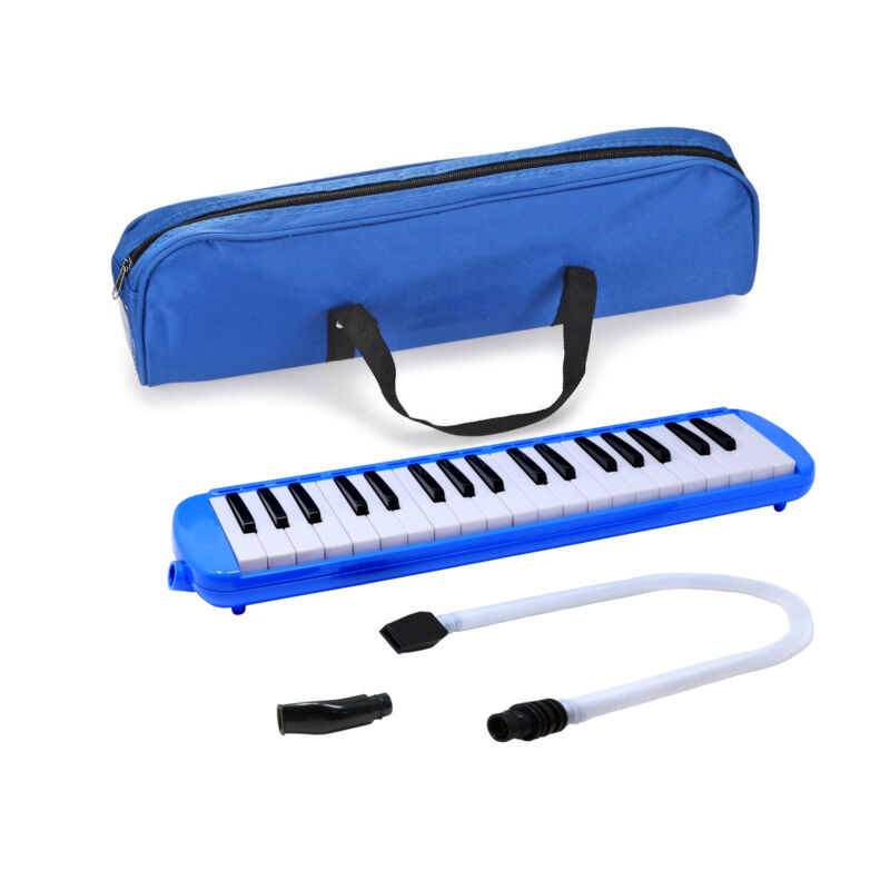 Fever Blue 37 Key Melodica with Protective Bag