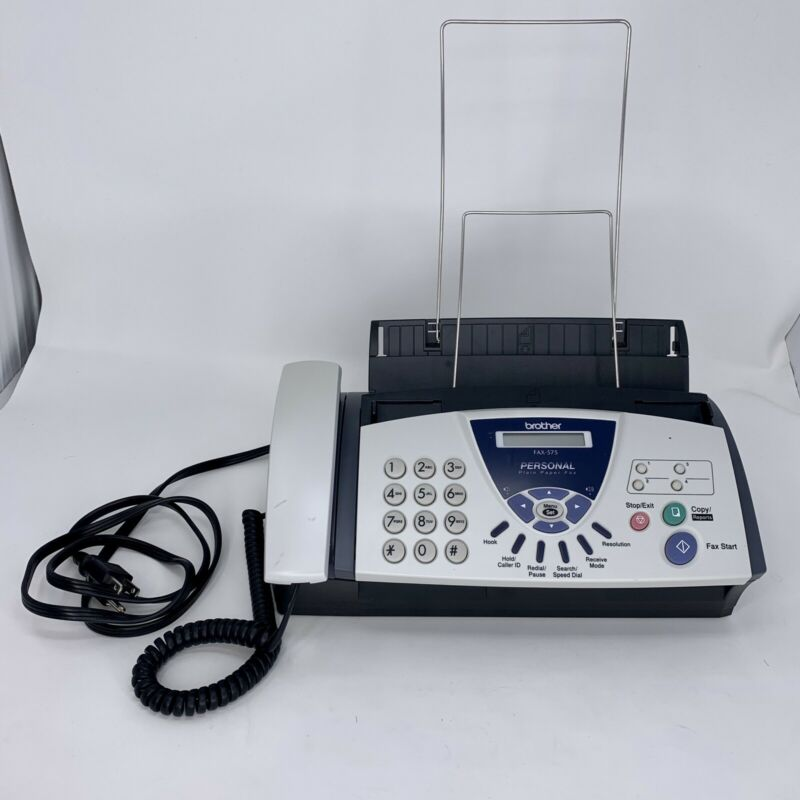 Brother FAX-575 Personal Plain Paper Fax - Phone - Copier - Slightly Used