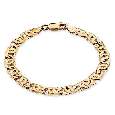 """Men's Bird's-Eye Link 14k Gold over .925 Silver Bracelet 8"""""""