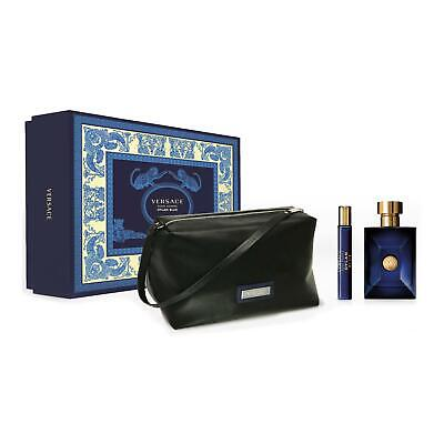 Versace Dylan Blue Pour Homme 100ml EDT + 10ml EDT + Pouch Spray Gift Set