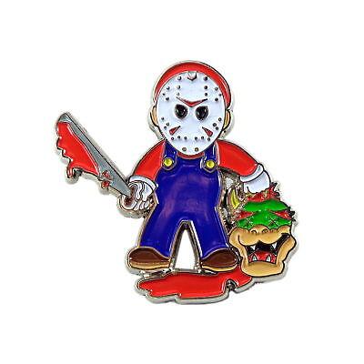 Evil Mario Horror Alternative Adult Alt Art Enamel Pin Lapel