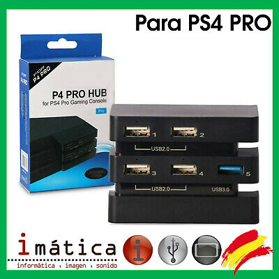 HUB USB 5 PUERTOS PARA SONY PLAY STATION 4 PRO PS4 PORT...