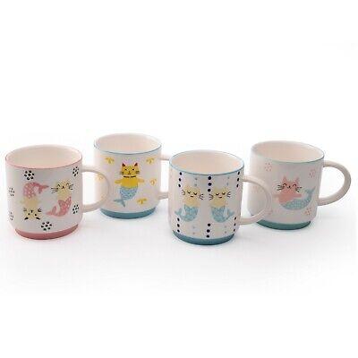 - Mer Cat Set of 4 Assorted Mugs by Signature Housewares