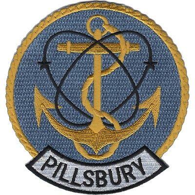 USS PILLSBURY DE-133 Edsall-Class Destroyer Escort Military Patch