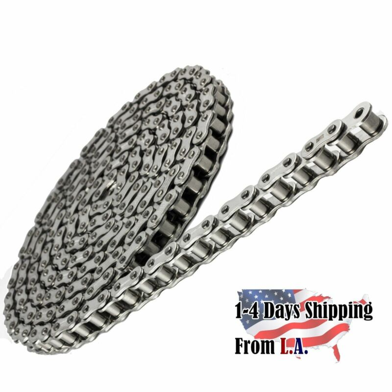 #41 SS Stainless Steel Roller Chain 10 Feet with 1 Connecting Link