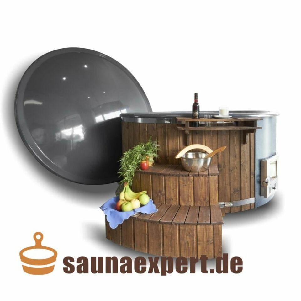 Badezuber - GFK-Einsatz Massage,V4-Holzofen ✔️ Thermoholz Treppe in Straubing