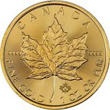 2015 Canadian Gold Maple Leaf 1oz UNC