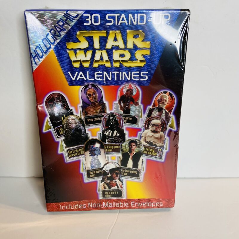 STAR WARS 30 STAND UP HOLOGRAPHIC VALENTINES SEALED NIP 1997 FLO