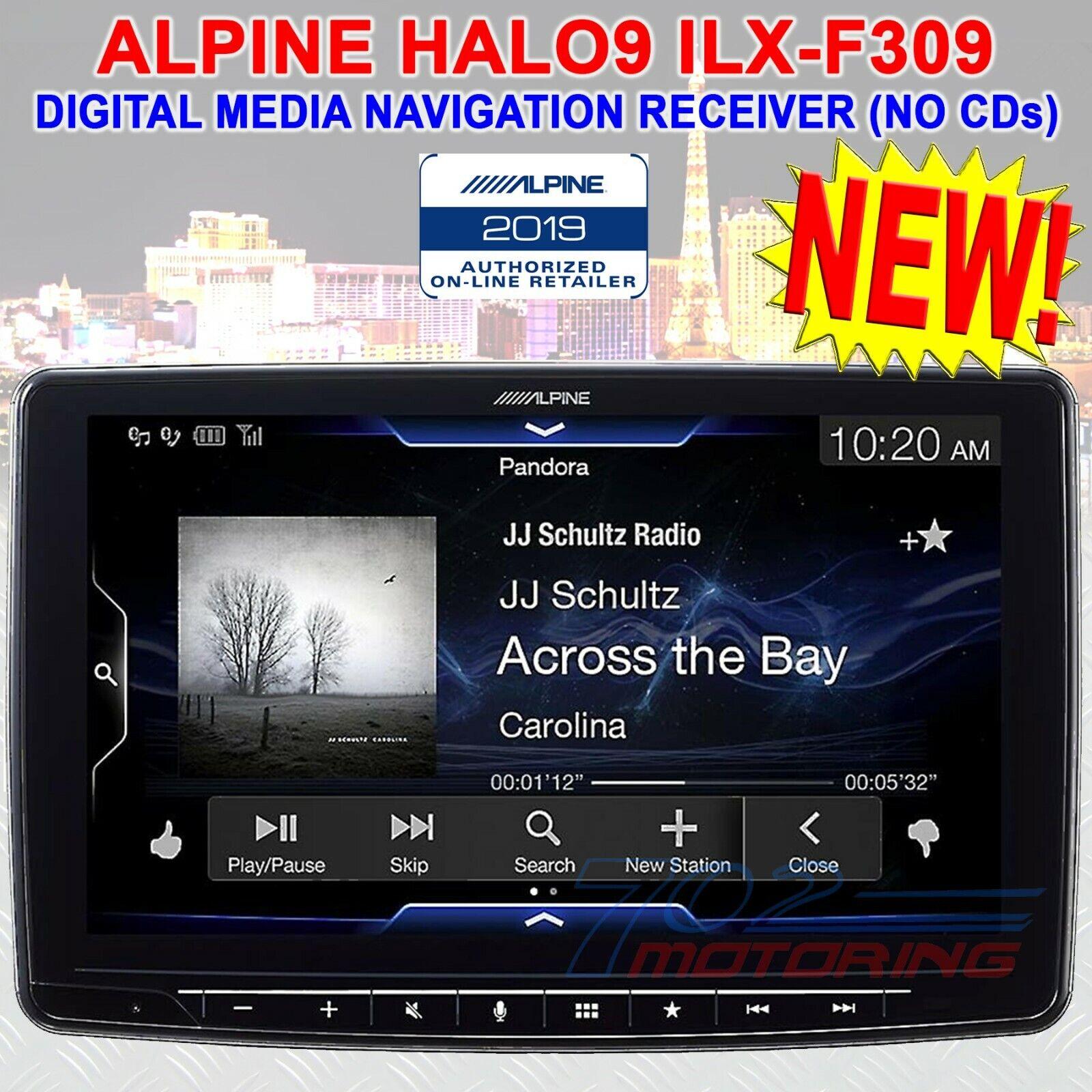 """Alpine iLX-F309 HALO9 9"""" AM/FM/audio/video Receiver w/ 9-inc"""
