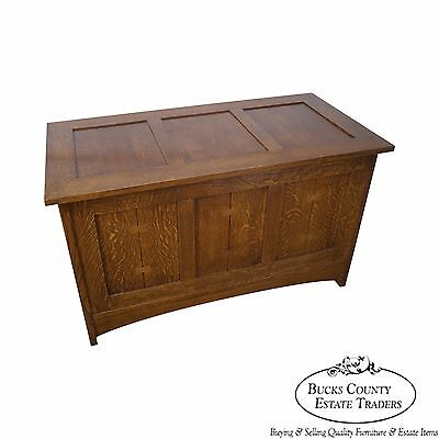 خزانة  Stickley Mission Oak Blanket Chest