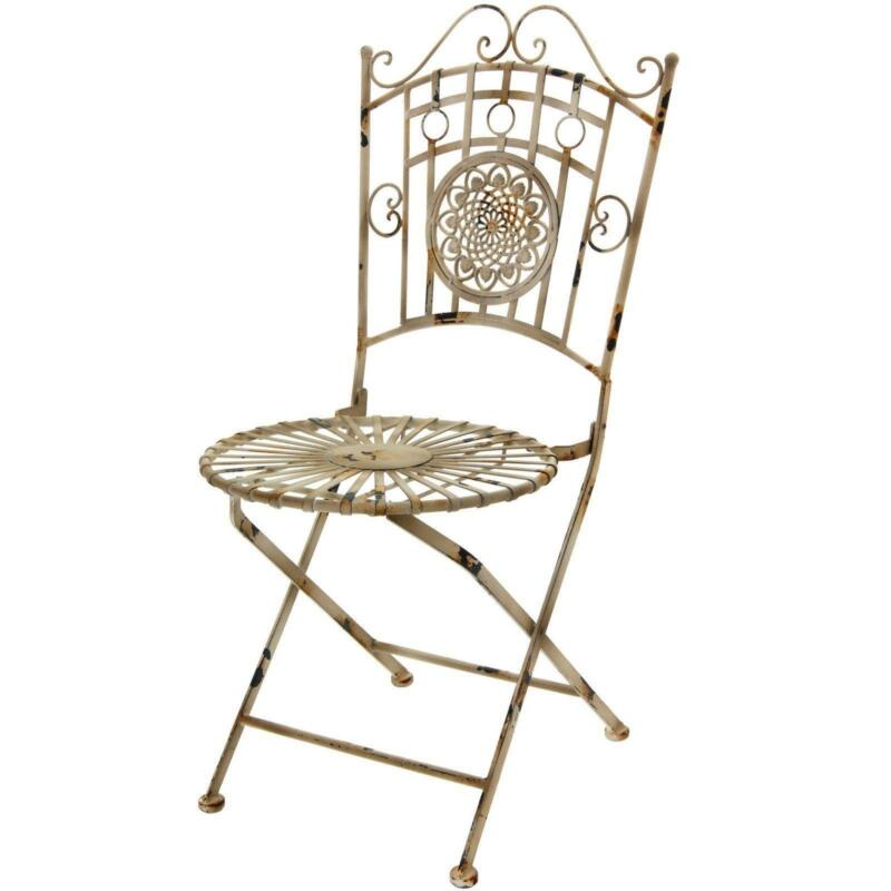 Antique metal lawn chairs ebay for Metal design chair