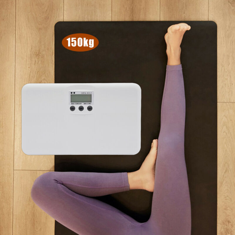 Body Scale Digital Electronic Scale Animal Weight Pet  Weighing Scale White New