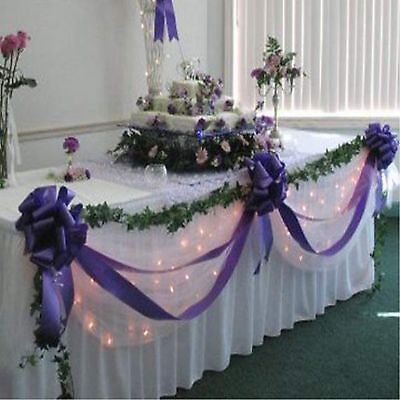 Wedding Top Table Decoration Kit diy - Bows & Swags - All Colours Personalised
