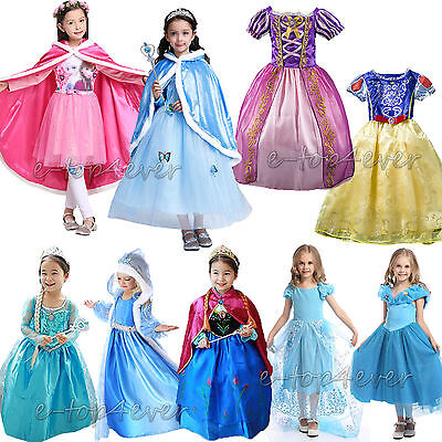 Snow White Outfit Kids (+Girl's Kids Snow White Rapunzel Cinderella Fancy Dress Up for Costume)