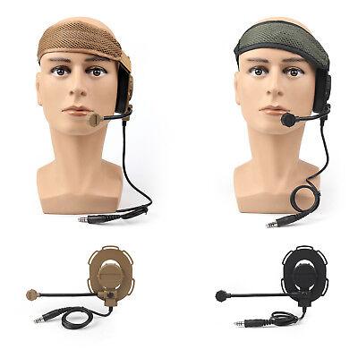 Tactical Earphone - Z Tactical Headset Headphone Military Style HD-03 Airsoft Mic Radio Adjust UE