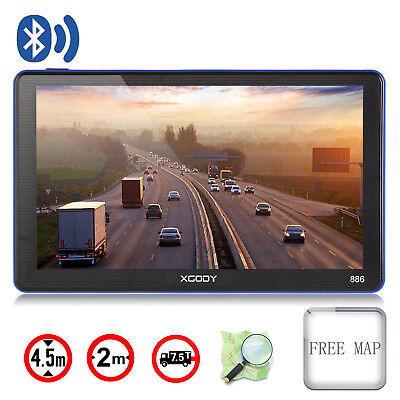 Xgody 886 7 Inch Truck Car Gps Navigation Sat Nav Navigator   Free Lifetime Maps