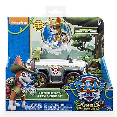 PAW Patrol Jungle Rescue Tracker's Jungle Cruiser Vehicle and Figure Set Pup Box
