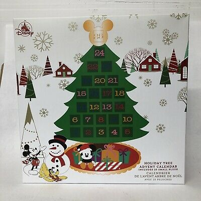 Disney Store Mickey and Friends Plush Christmas Holiday Advent Calendar Hanging