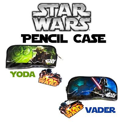 NEW Star Wars Pencil Pouch Yoda Darth Vader Jedi And Sith Masters Back To - Star Wars Pencil Case