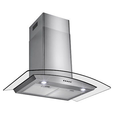 "30"" New Europe Exhaust Stainless Steel Glass Wall Mount Kitchen Vent Range Hood"