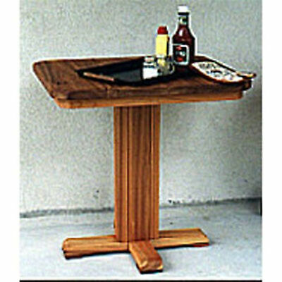 Woodworking Project Paper Plan to Build Patio Barbeque Table ()